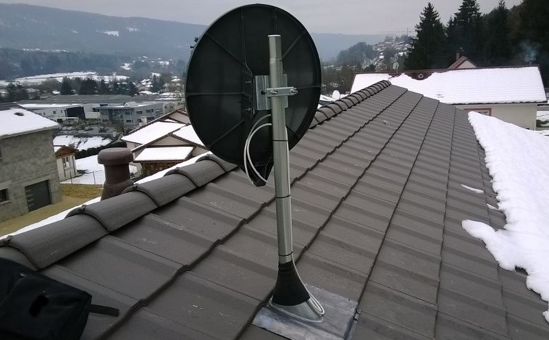 Pose antenne parabole rénovation Grand-Bornand La Clusaz